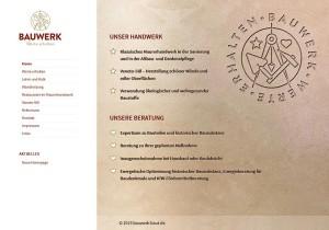 Screenshot der Startseite bauwerk-baut.de